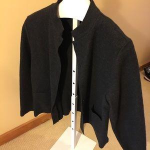 Eileen Fisher L boiled wool jacket